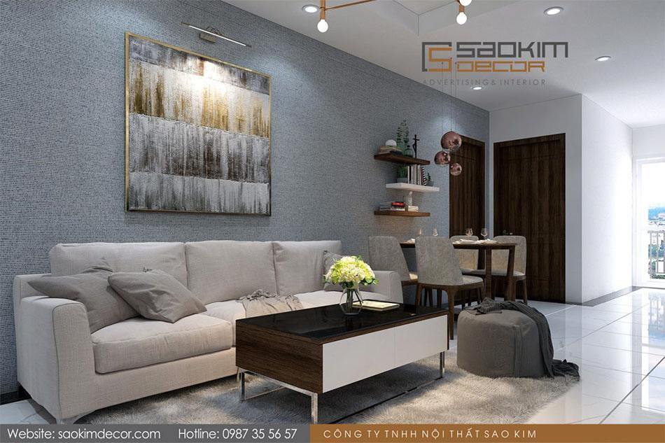 Thiết kế chung cư 70m2 Athena Complex Xuân Phương