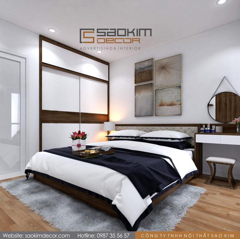 Thiết kế phòng ngủ master chung cư Athena Complex Xuân Phương