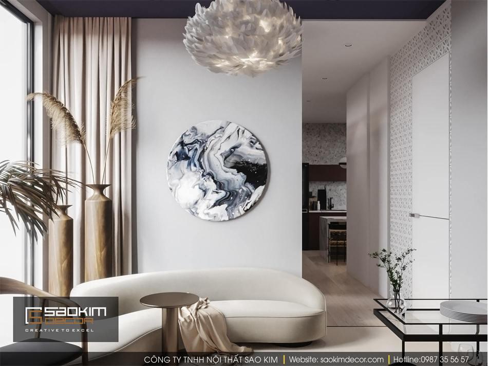 Thiết kế phòng khách chung cư nhỏ Vinhome D'capitale