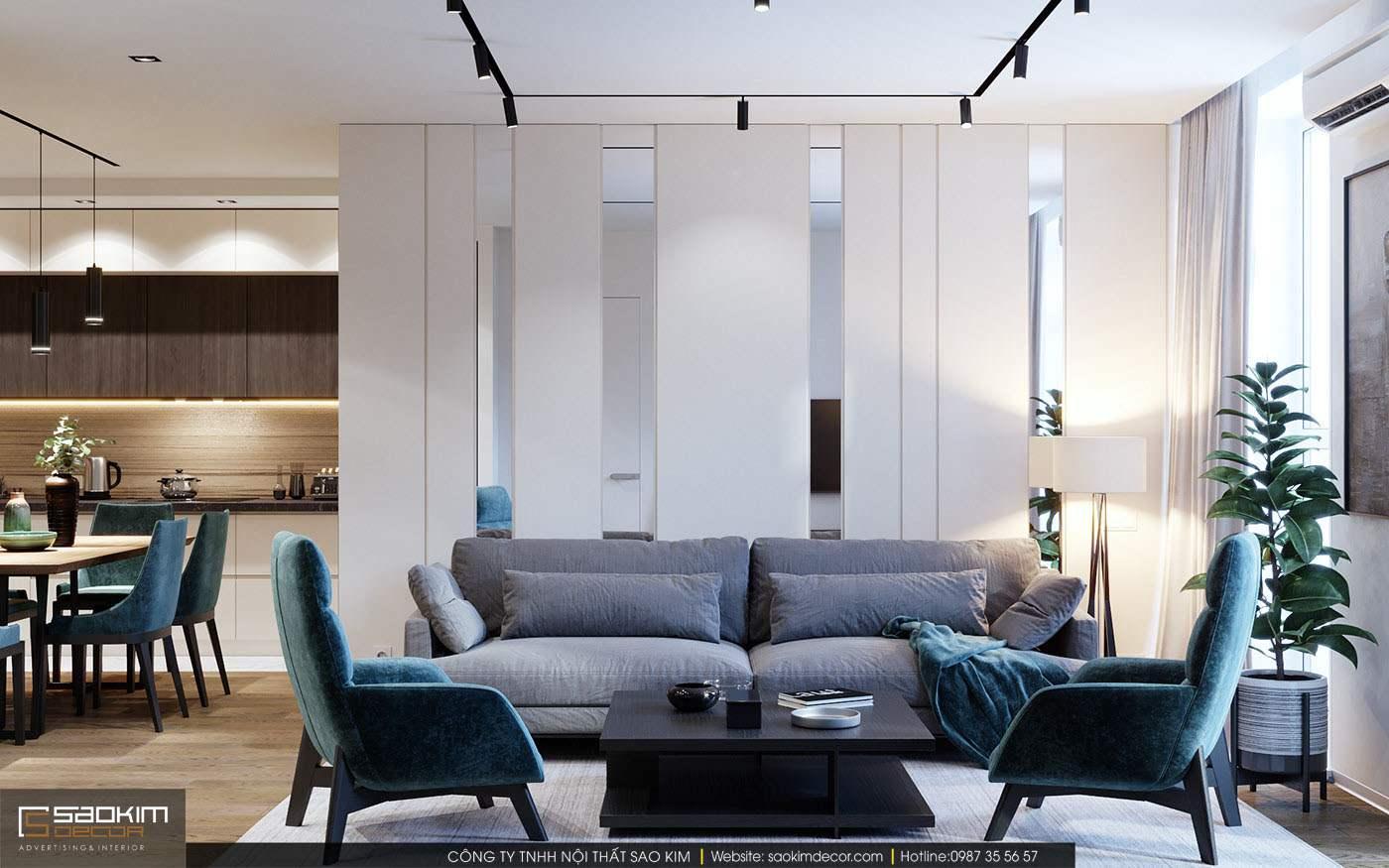Thiết kế nội thất chung cư hiện đại TNR Goldmark City