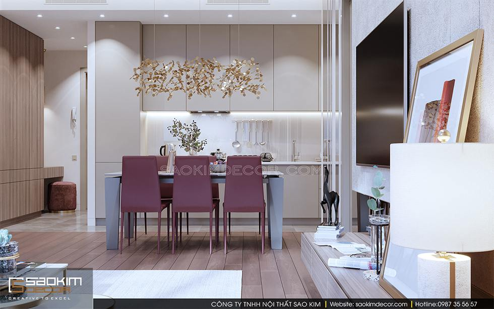 Thiết kế nội thất phòng bếp chung cư Royal City