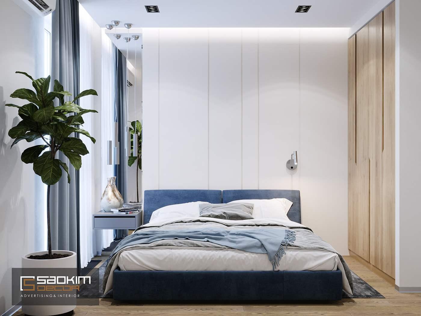 Thiết kế phòng ngủ 3 chung cư TNR Goldmark City