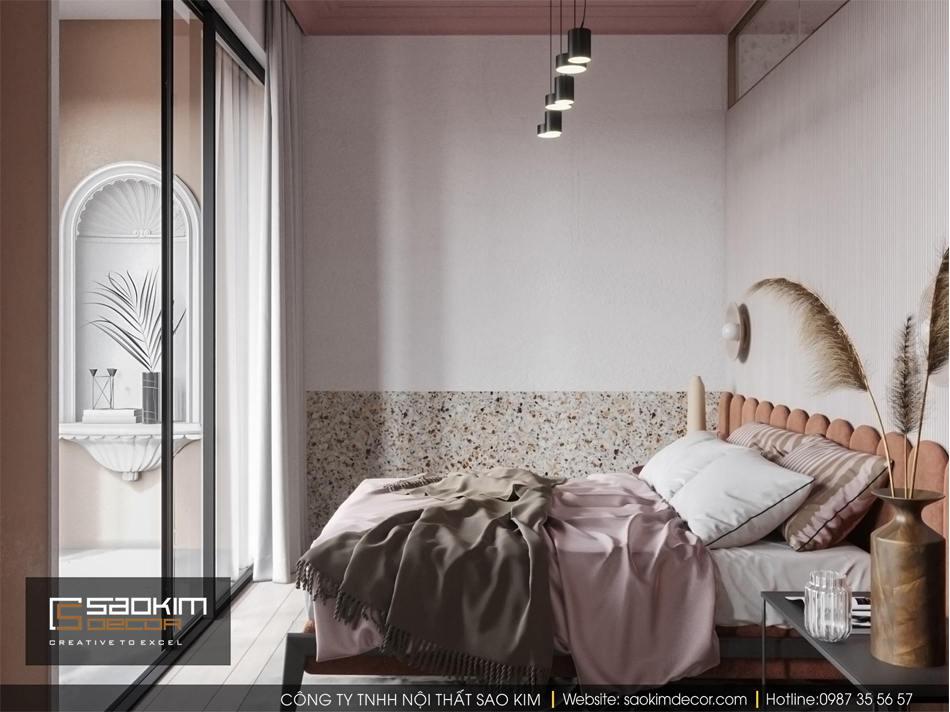 Thiết kế phòng ngủ nhỏ chung cư Vinhome D'Capitale