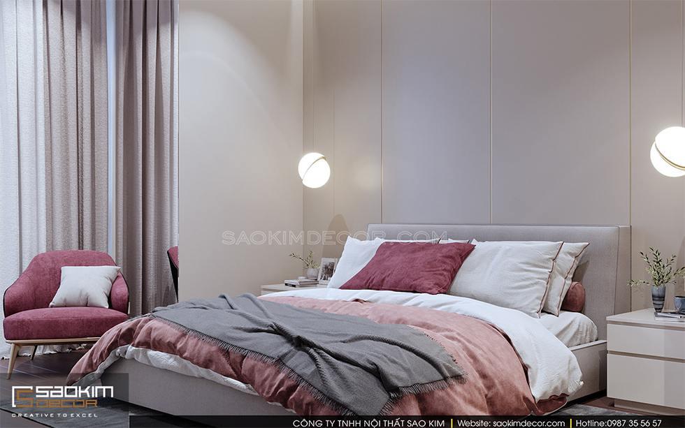 Thiết kế phòng ngủ master chung cư Royal City