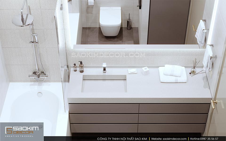 Thiết kế phòng tắm chung cư cao cấp Royal City