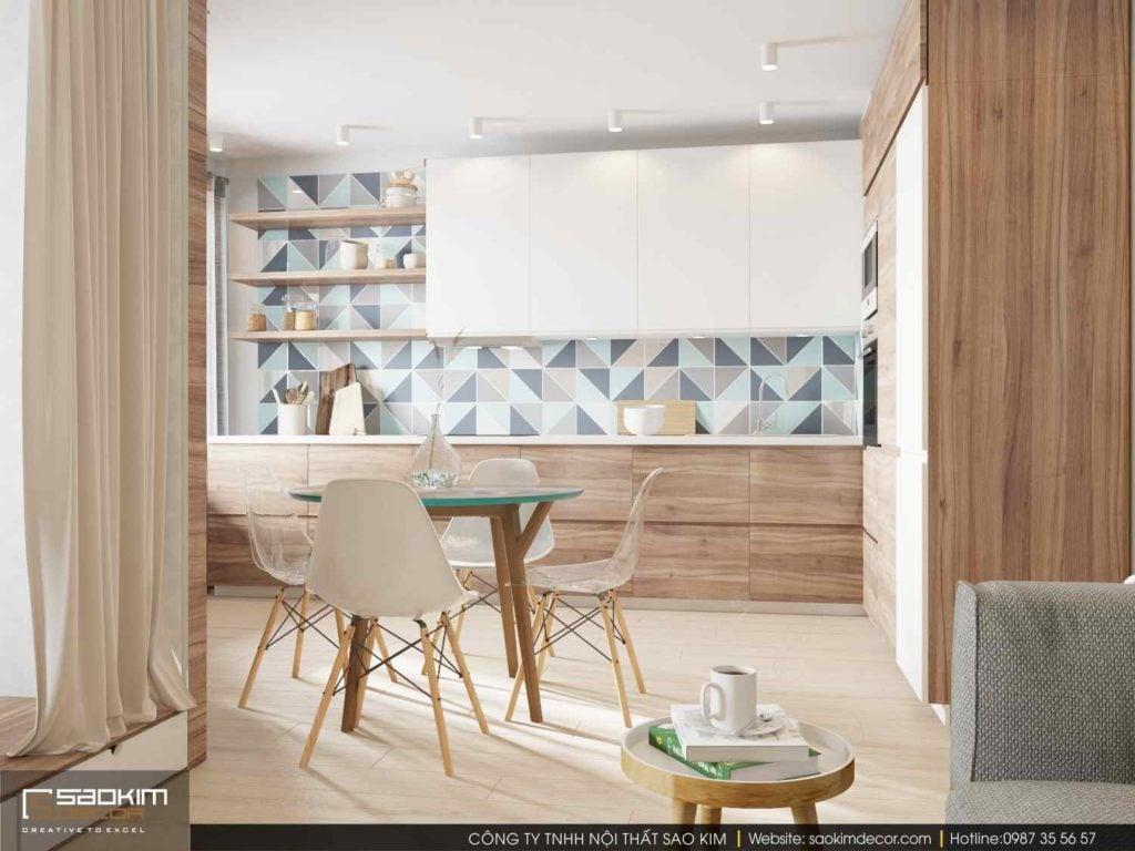 Thiết kế căn hộ chung cư mini 30m2 với không gian mở tạo sự thông thoáng, thuận tiện