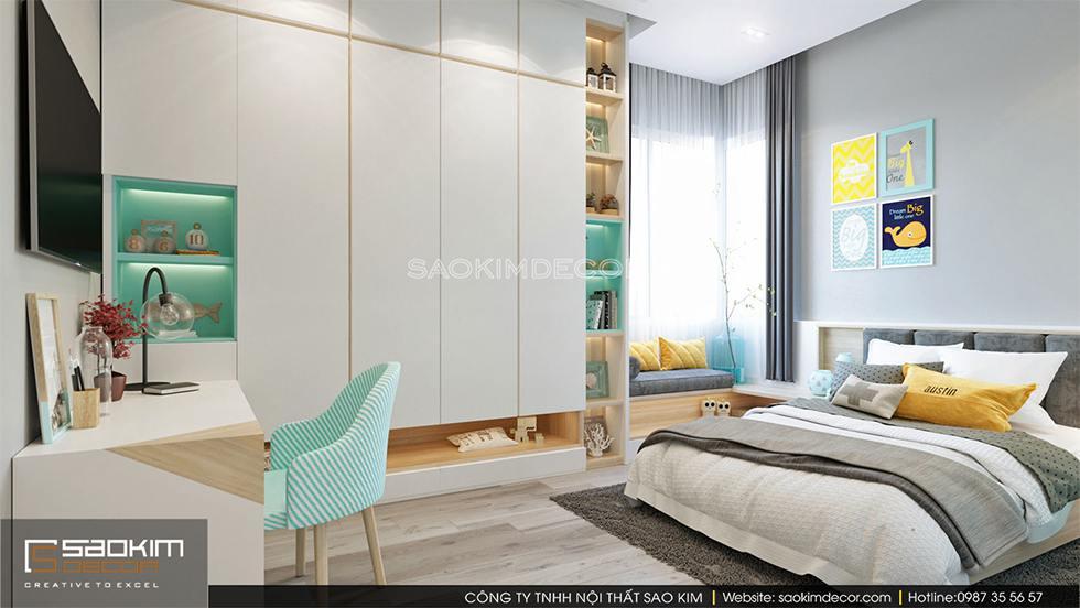 Thiết kế phòng ngủ cho bé trai chung cư cao cấp Royal City