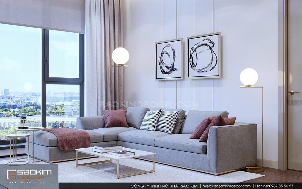 Thiết kế nội thất chung cư 3 phòng ngủ Royal City