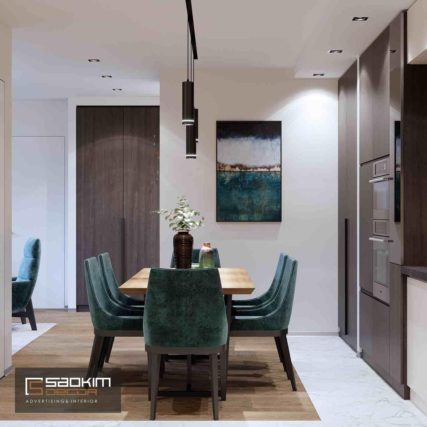 Thiết kế nội thất phòng bếp chung cư hiện đại TNR Goldmark City