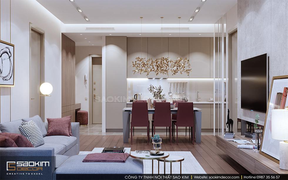 Thiết kế phòng bếp chung cư cao cấp Royal City