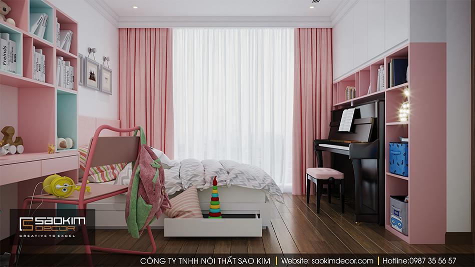 Thiết kế phòng ngủ bé gái xinh xắn