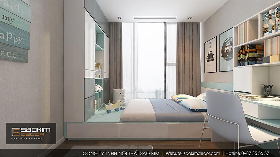 Thiết kế phòng ngủ bé trai chung cư