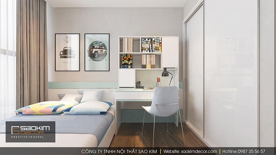 Thiết kế phòng ngủ bé trai chung cư Vimhomes Metropolis Liễu Giai