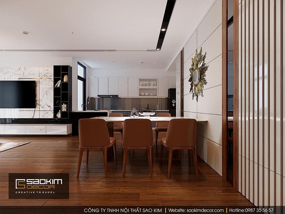 Thiết kế nội thất phòng bếp và bàn ăn