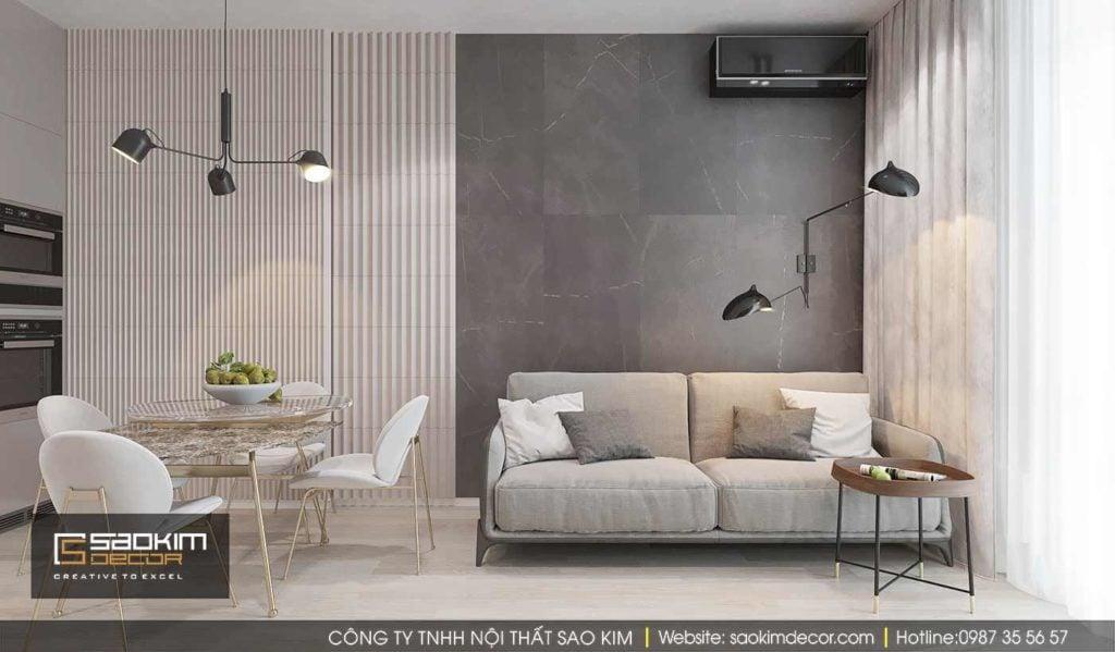 Thiết kế chung cư nhỏ đẹp theo phong cách tối giản