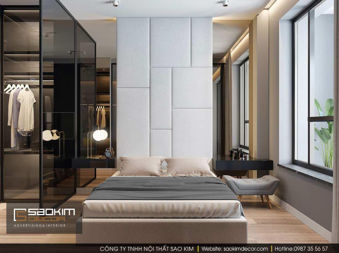Thiết kế phòng ngủ master chung cư G1 Vinhomes Green Bay