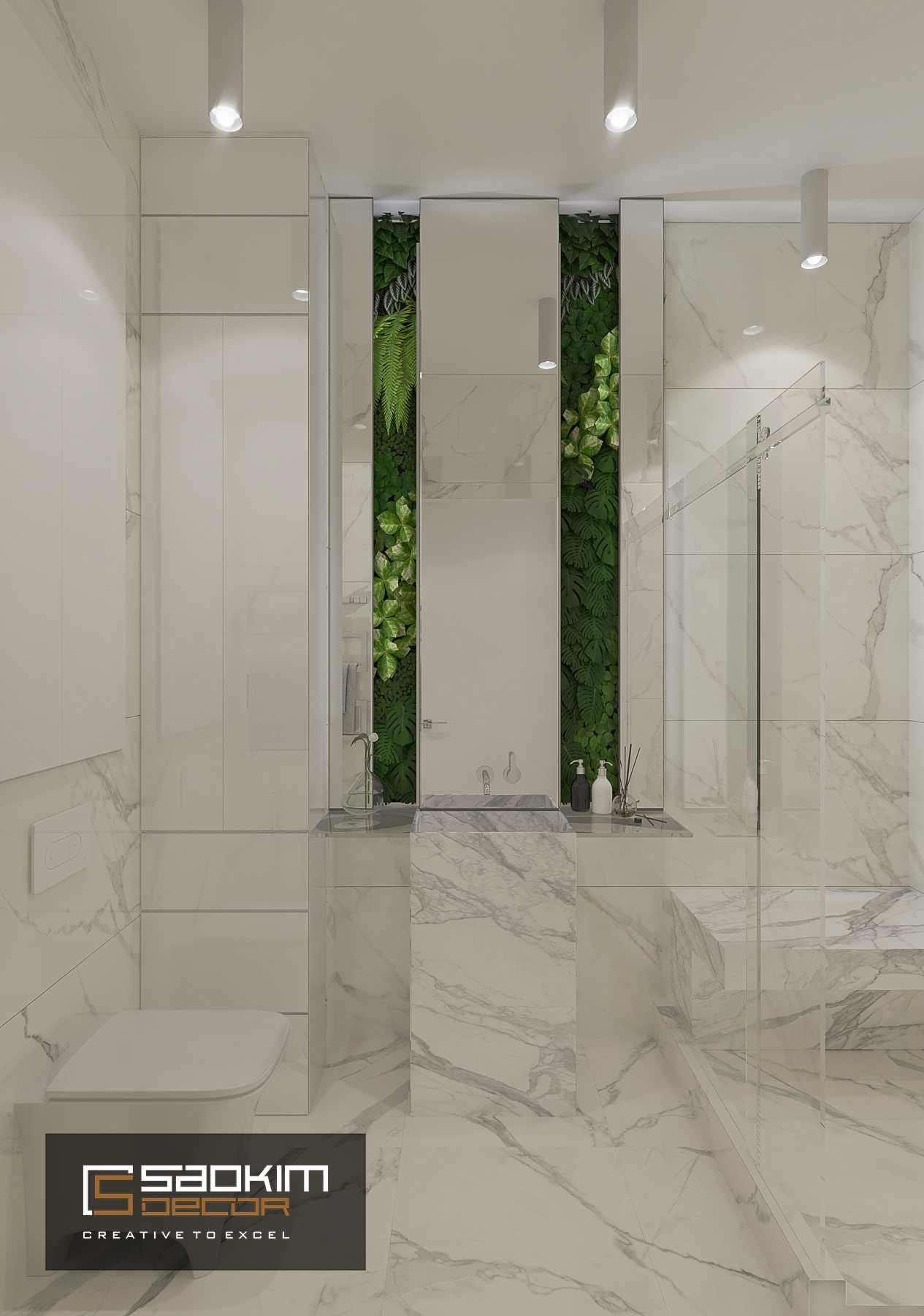 Thiết kế nội thất phòng tắm chung cư Time City