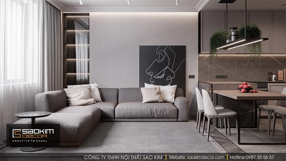 Thiết kế chung cư 100m2 Dream Center Home