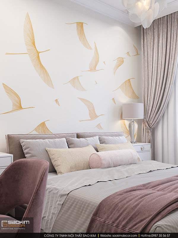 Thiết kế nội thất phòng ngủ master Mỹ Đình Plaza 2