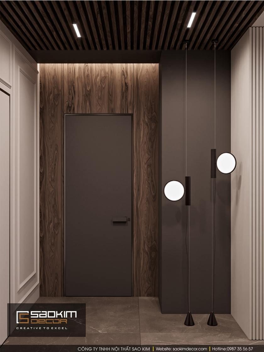 Thiết kế hành lang căn hộ chung cư
