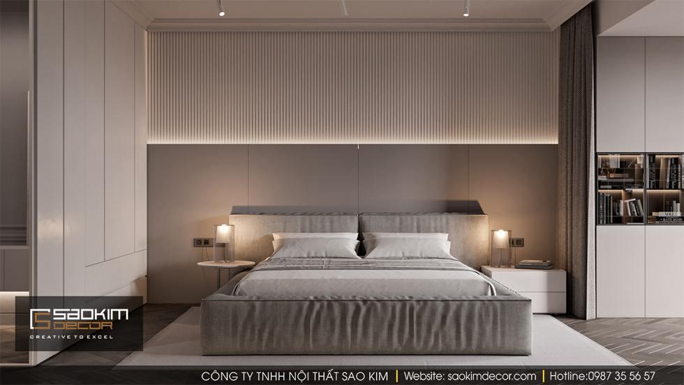 Thiết kế nội thất phòng ngủ master chung cư 100m2
