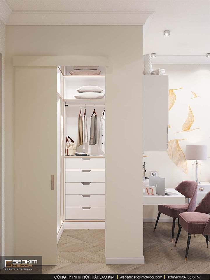 Thiết kế nội thất phòng ngủ đẹp Mỹ Đình Plaza 2