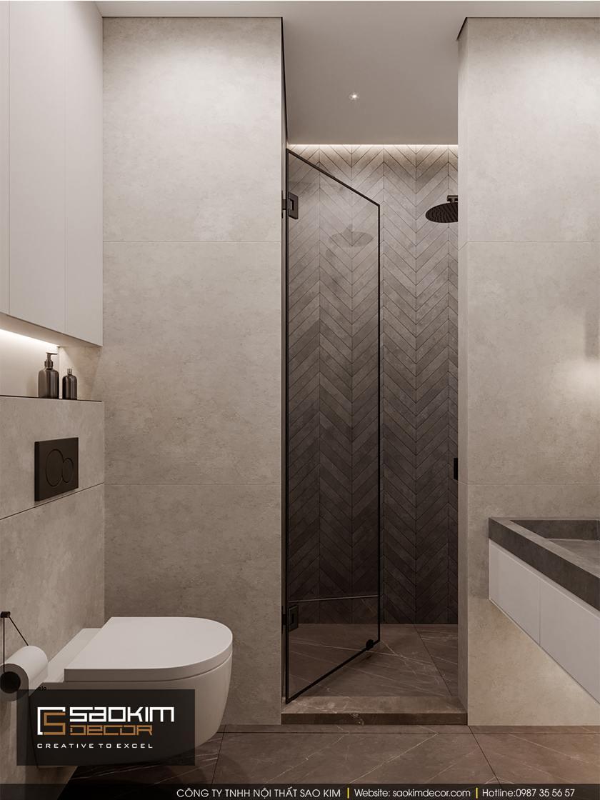 Thiết kế phòng tắm chung cư 100m2 Dream Center Home