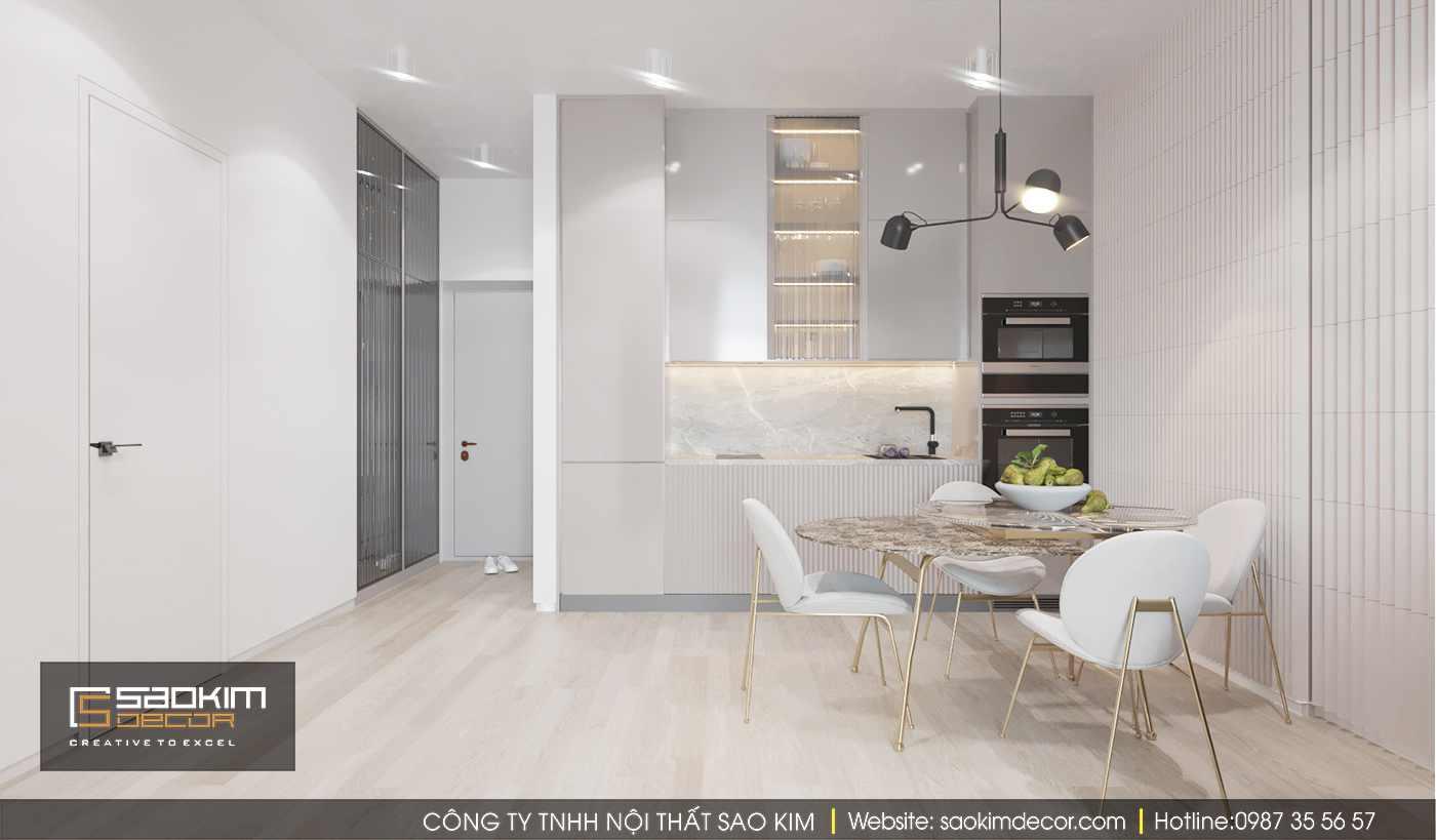 Thiết kế nội thất phòng bếp chung cư Time City