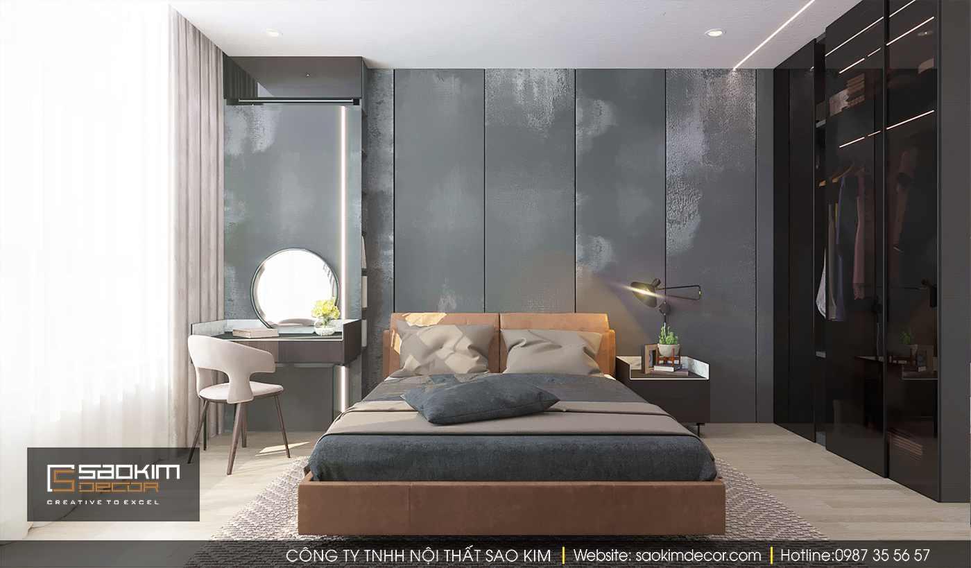 Thiết kế nội thất phòng ngủ chung cư Time City theo phong cách tối giản (minimalism)