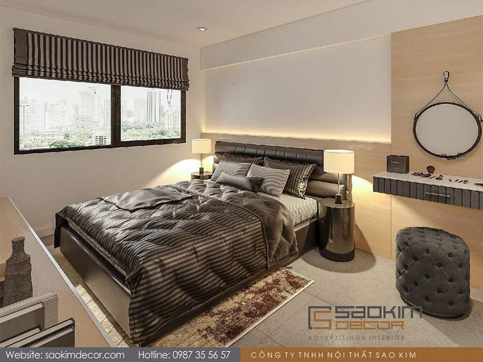 Thiết kế phòng ngủ master chung cư 80m2 Mon Central – Láng Hạ