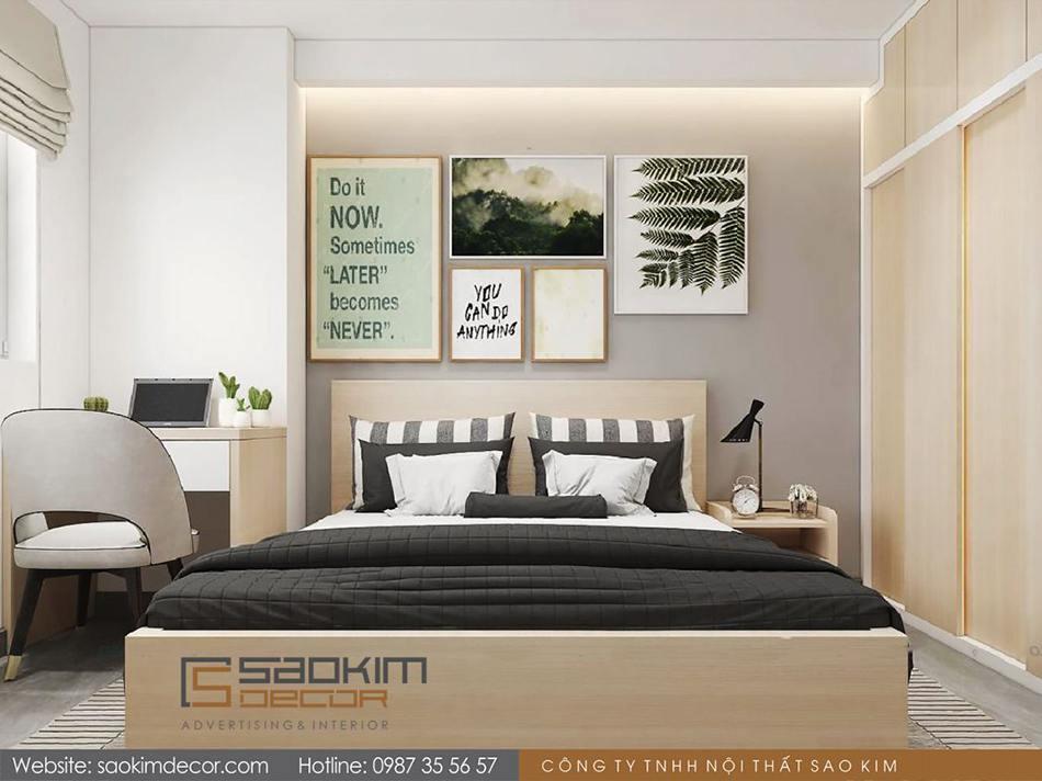 Thiết kế phòng ngủ 2 chung cư 80m2 Mon Central – Láng Hạ