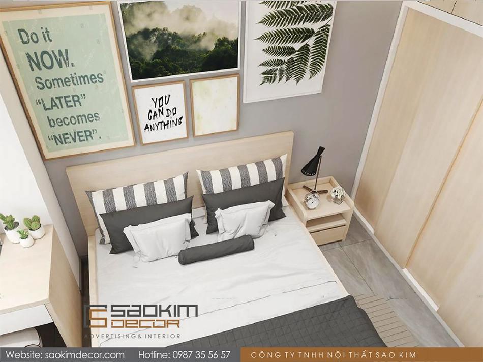 Thiết kế phòng ngủ 2 theo phong cách hiện đại