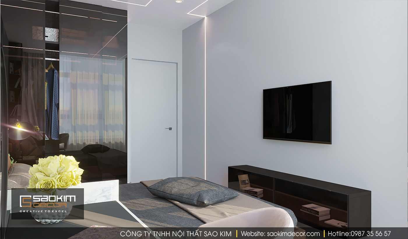 Thiết kế nội thất phòng ngủ chung cư Time City