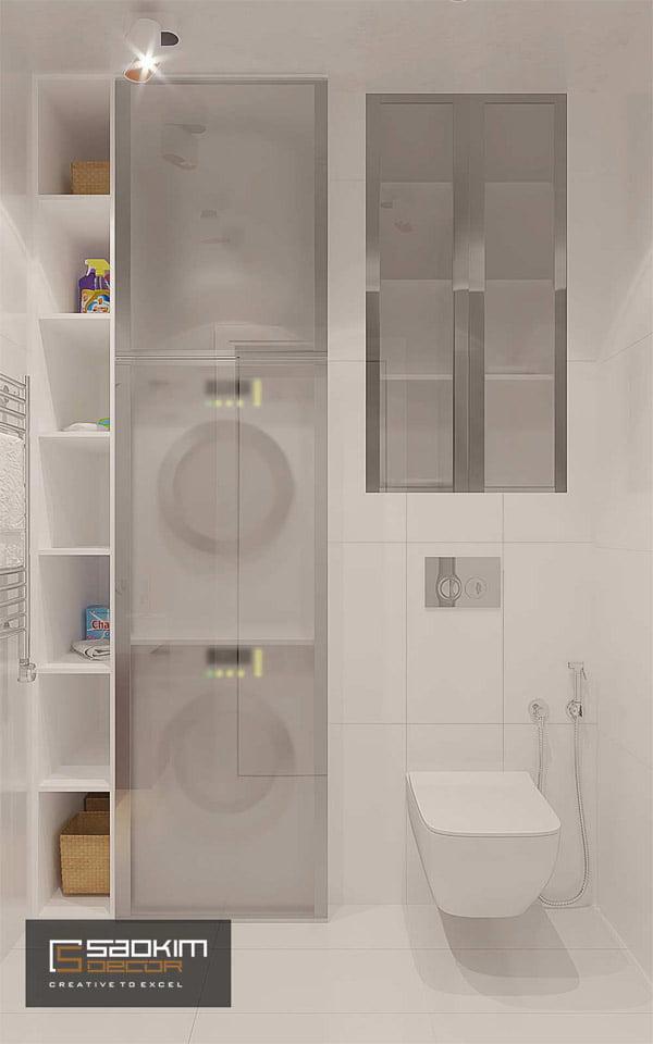 Thiết kế phòng tắm chung cư Gold Tower Nguyễn Trãi