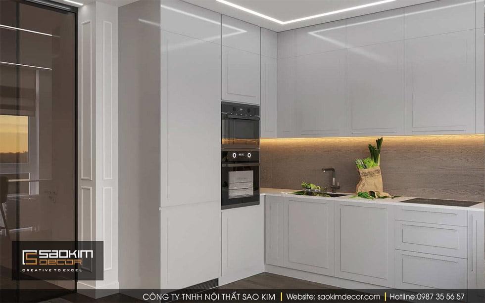 Thiết kế phòng bếp chung cư Gold Tower