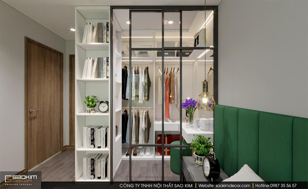 Thiết kế nội thất phòng ngủ masster chung cư Sky Central