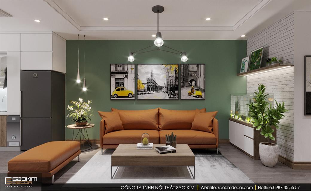 Thiết kế chung cư 3 phòng ngủ Sky Central