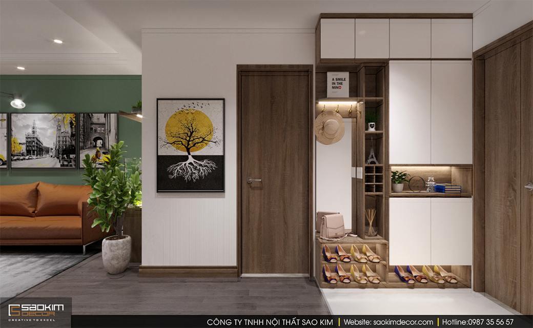 Thiết kế nội thất phòng khách chung cư Sky Central