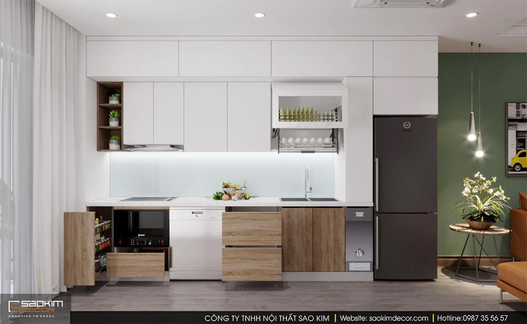 Thiết kế nội thất phòng bếp chung cư Sky Central