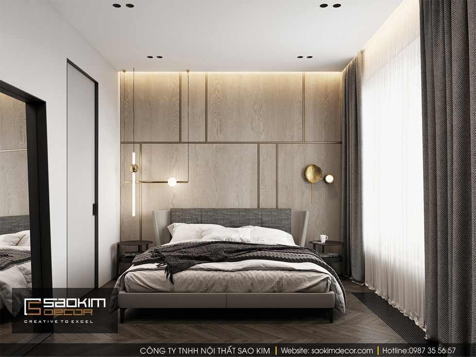 Thiết kế phòng ngủ master chung cư 85m2 Bohemia Residence