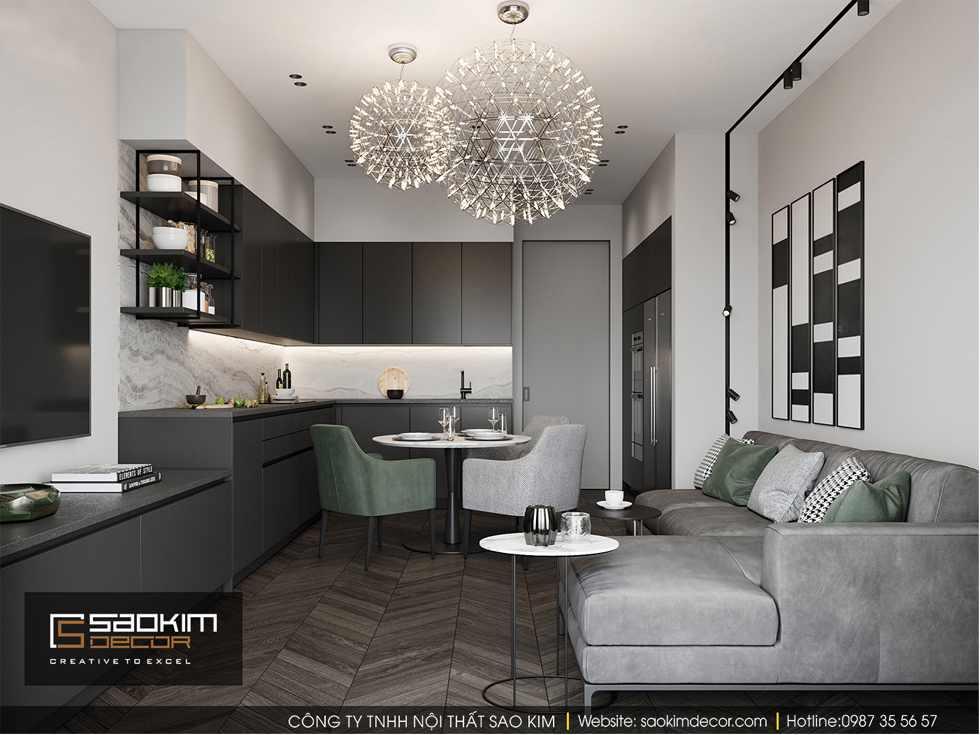 Thiết kế phòng ăn và bếp chung cư