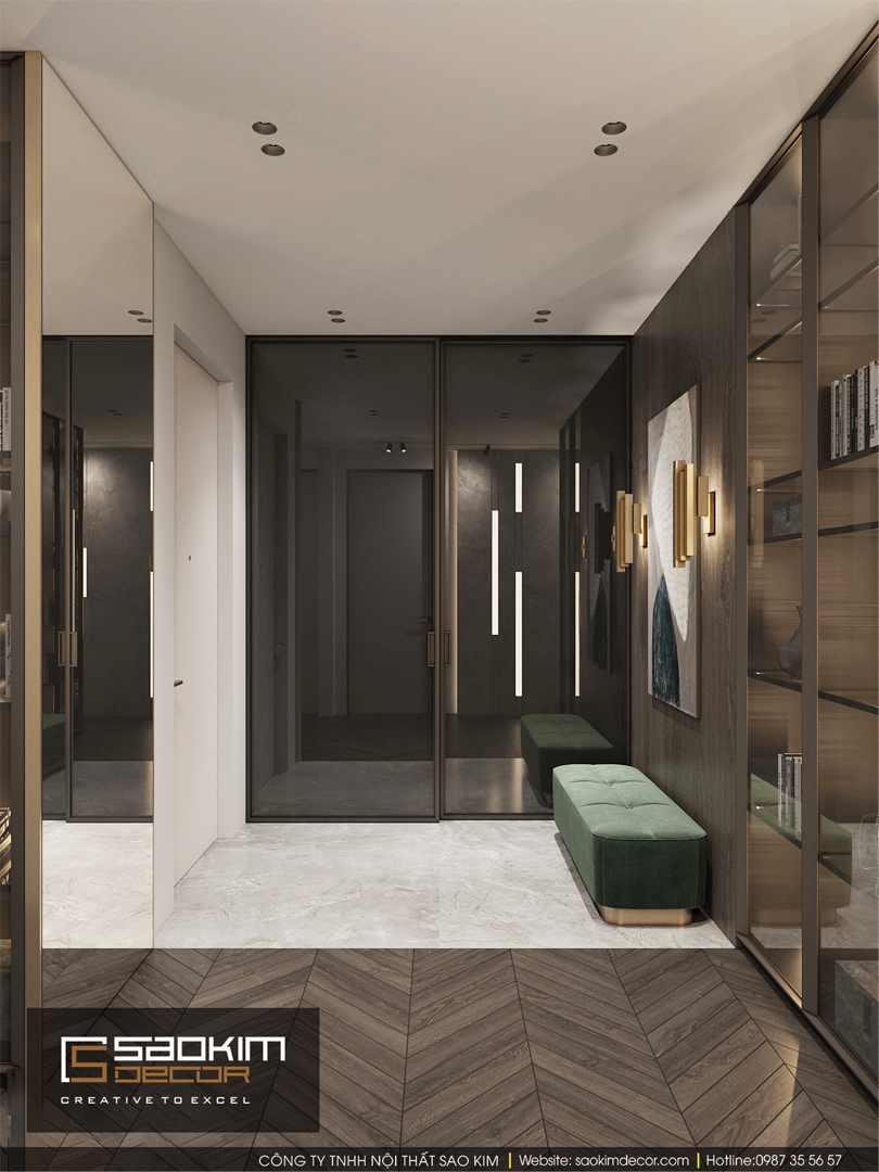 Thiết kế hành lang chung cư Bohemia Residence