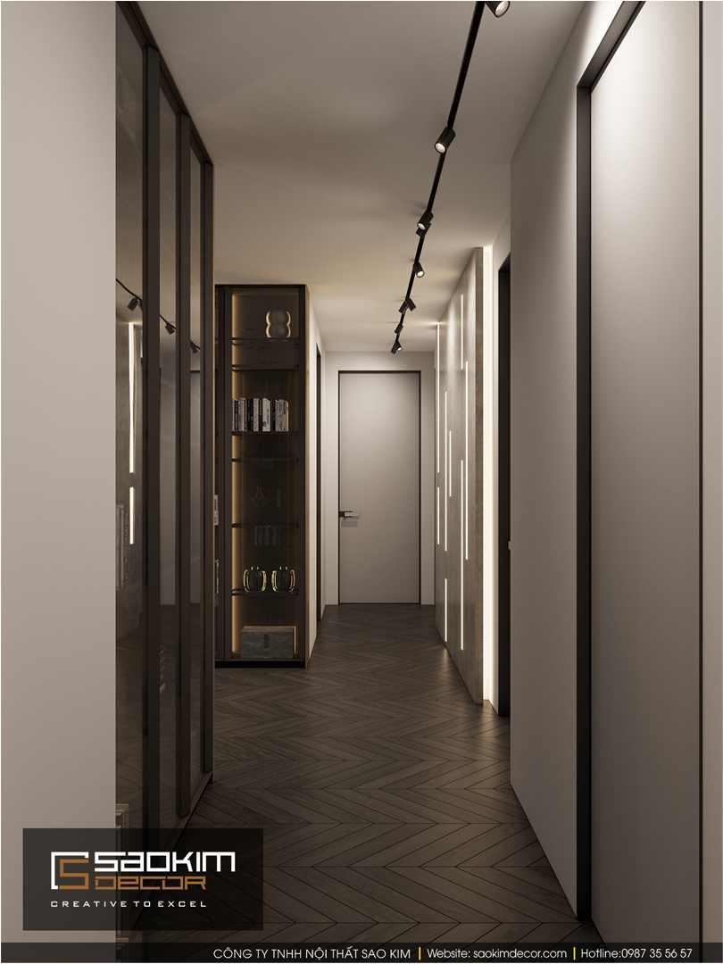 Hành lang chung cư được thiết kế đẹp mắt