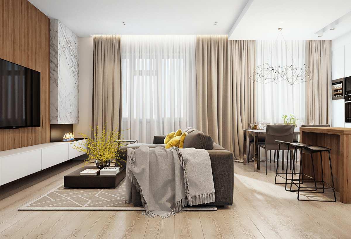 Thiết kế nội thất phòng khách chung cư cao cấp Golden Land