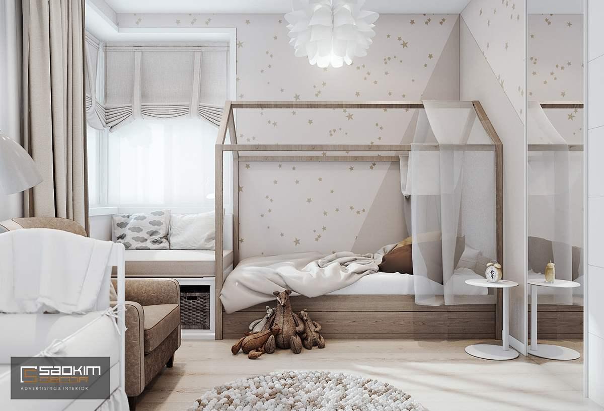 Thiết kế phòng ngủ của bé chung cư cao cấp Golden Land
