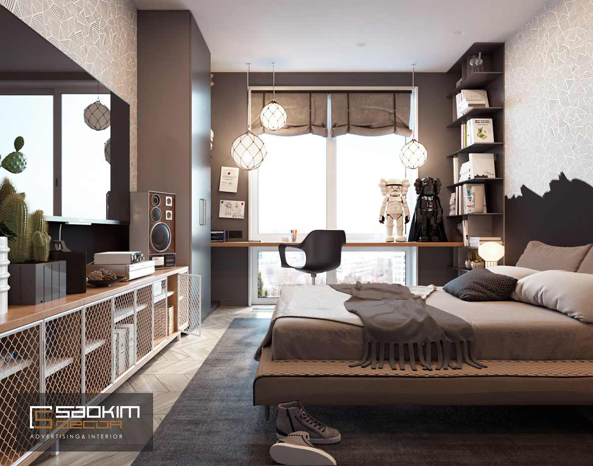 Thiết kế phòng ngủbé trai chung cư