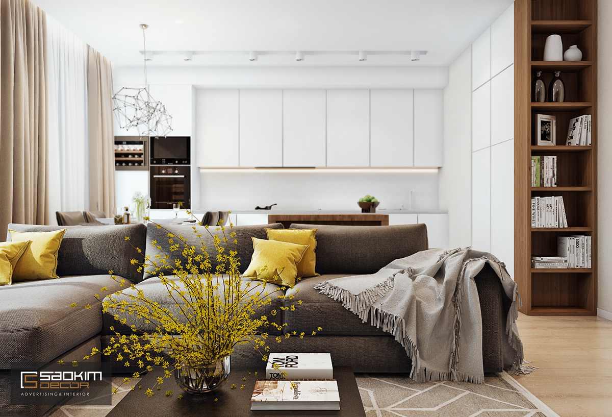 Thiết kế nội thất phòng khách chung cư Golden Land Nguyễn Trãi
