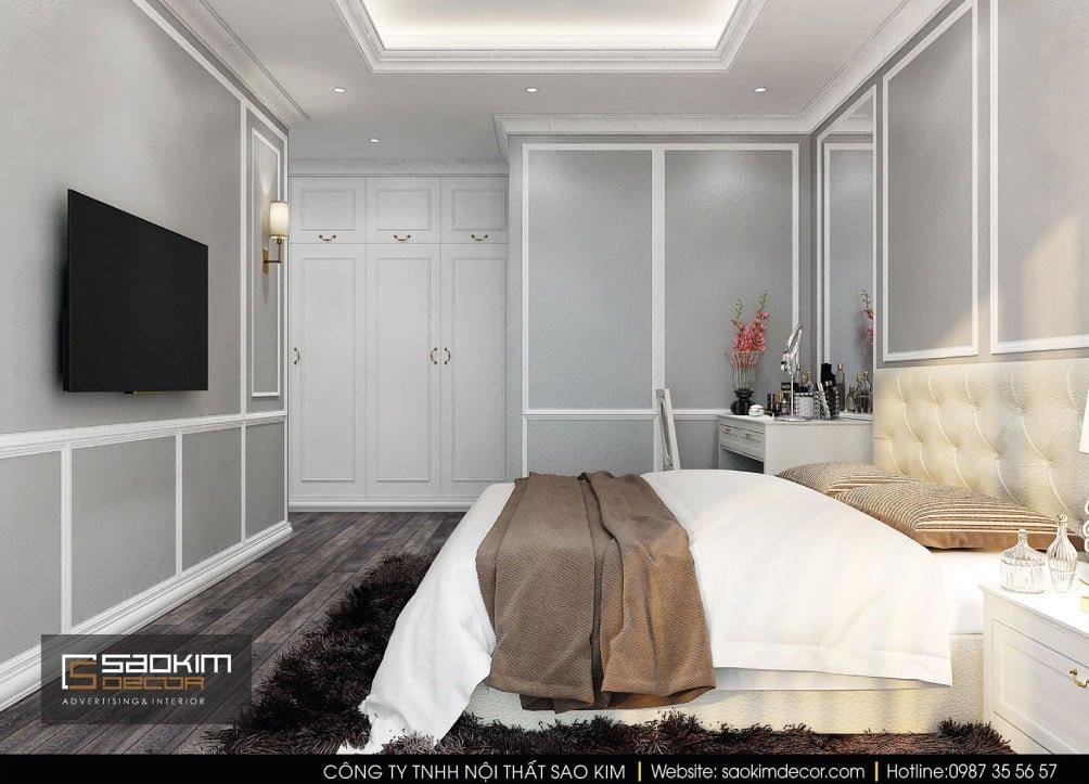 Thiết kế nội thất phòng ngủ master chung cư Vinhomes Times City