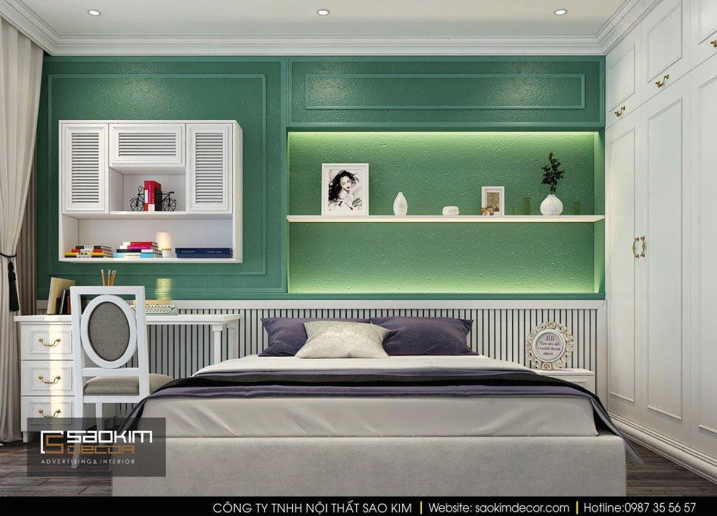 Thiết kế nội thất phòng ngủ 2 chung cư Vinhomes Times City