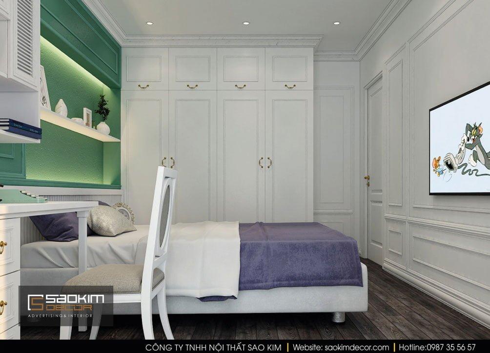 Thiết kế nội thất phòng ngủ 2 phong cách Tân Cổ Điển